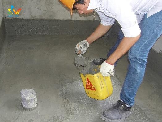 Chống thấm bể nước bằng vật liệu chống thấm SIKA